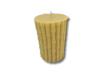 Ekologiczna trójwymiarowa świeca z wosku pszczelego  w kształcie BAMBUSA