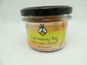 Świeca w słoiku z wosku pszczelego cytrusowy raj 235 ml
