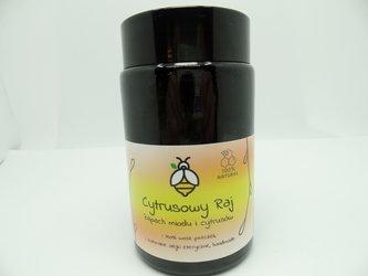 Świeca w słoiku z wosku pszczelego cytrusowy raj 240 ml