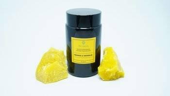 Świeca w słoiku z wosku pszczelego soczyste mango z wanilią 200 ml