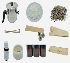 Zestaw do tworzenia świec lawendowych DIY wosk gratis