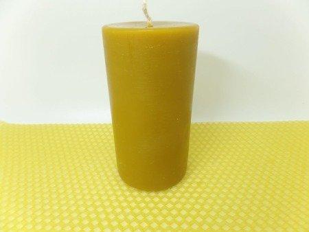 Naturalna świeca z wosku pszczelego słupek 10 szt.