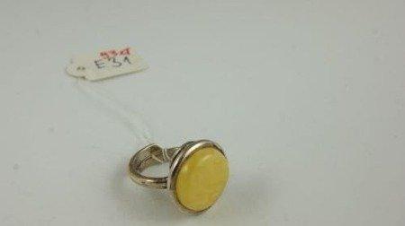 Pierścionek bursztyn bałtycki P47