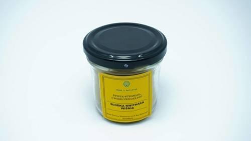 Świeca w słoiku z wosku pszczelego słodka kwitnąca wiśnia 120 ml