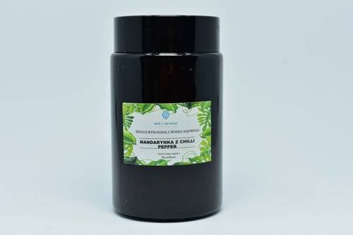 Świeca z wosku sojowego mandarynka z chili 240ml