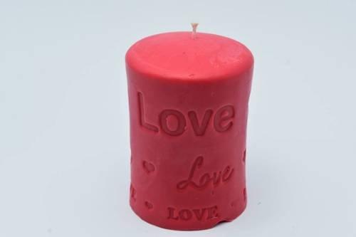 Świeca z wosku sojowego różowa love 220 g