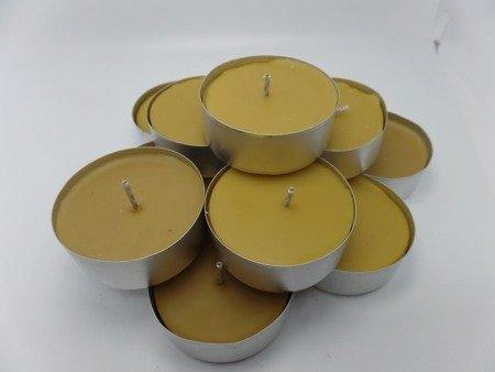 tealight z wosku pszczelego duży 10 szt.